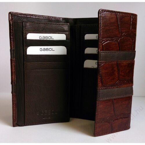Gabol Sicilia bőr pénztárca barna színben Bőr pénztárca e9bd01d1d9