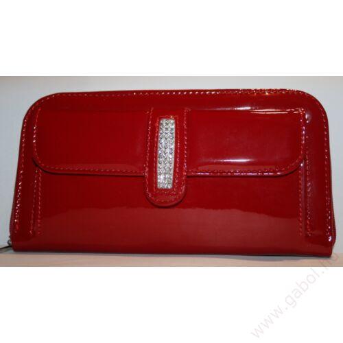 b0a9d56bac1e Kép 1/2 - Körcipes női bőr pénztárca 3 sor Swarovski Elements Kristállyal