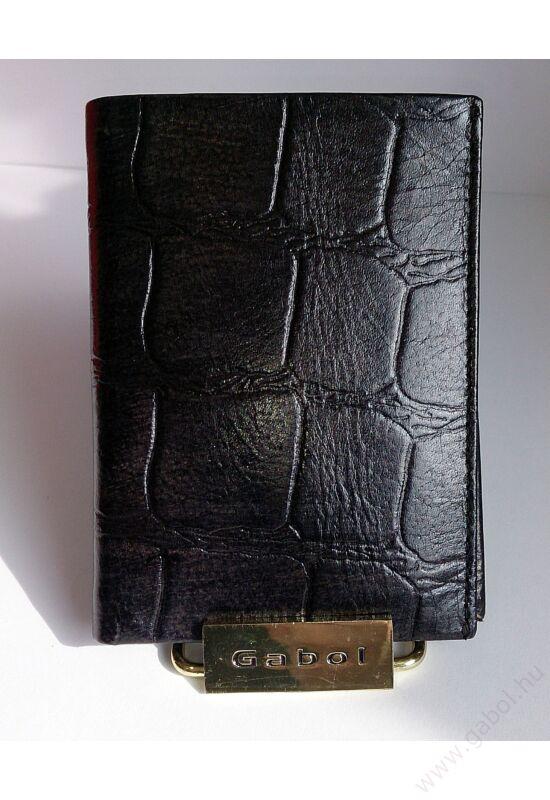 Gabol Sicilia bőr levéltárca fekete színben