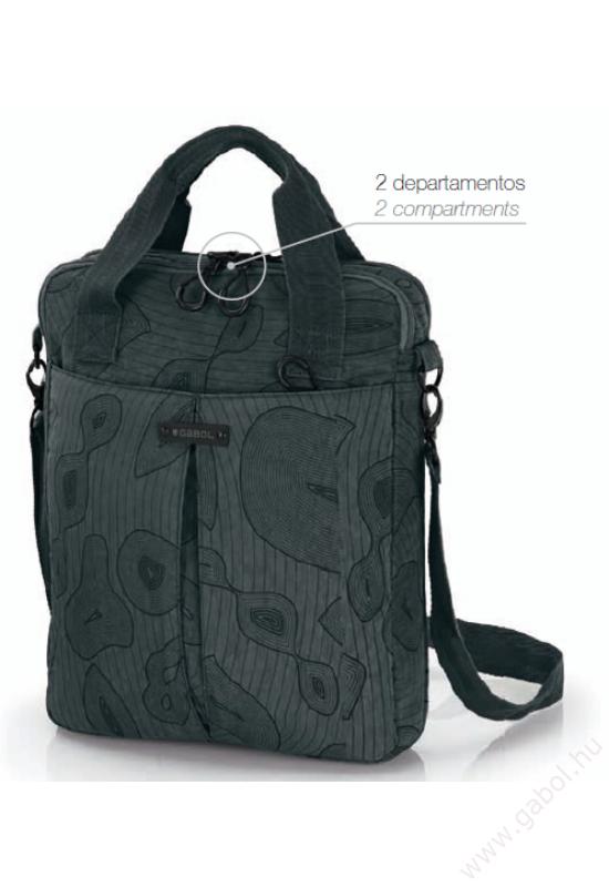 Place irattartó táska és laptoptáska fekete színben 14'1